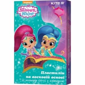 Пластилин восковой KITE Shimmer&Shine, 15 цветов, 225 г
