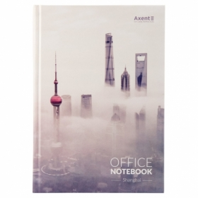 Книга записная Axent А4, 192 листа,клетка, Shanghai