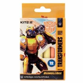 Мел цветной KITE Jumbo Transformers, 12 шт