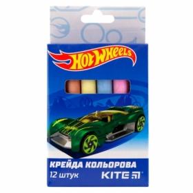 Мел цветной KITE Jumbo Hot Wheels, 12 шт