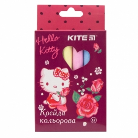 Мел цветной KITE Jumbo Hello Kitty, 12 шт