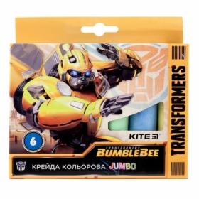 Мел цветной KITE Jumbo Transformers, 6 шт