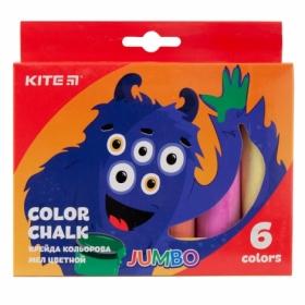 Мел цветной KITE Jumbo Jolliers, 6 шт