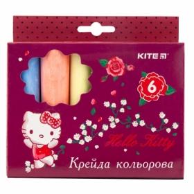 Мел цветной KITE Jumbo Hello Kitty, 6 шт