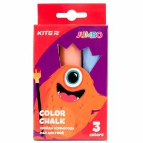 Мел цветной KITE Jumbo Jolliers, 3 шт