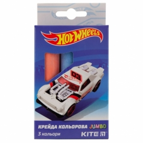 Мел цветной KITE Jumbo Hot Wheels, 3 шт