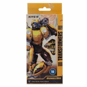 Пастельные мелки масляные KITE Transformers, 12 цветов