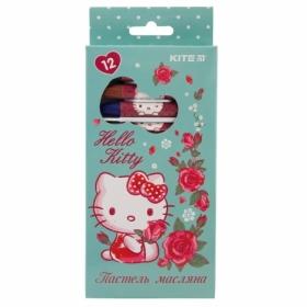 Пастельные мелки масляные KITE Hello Kitty, 12 цветов