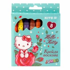 Карандаши-мелки восковые KITE Jumbo Hello Kitty, 8 цветов
