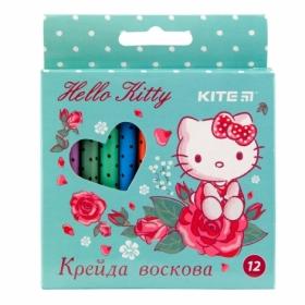 Карандаши-мелки восковые KITE Hello Kitty, 12 цветов
