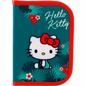 Пенал жесткий КІТЕ Education Hello Kitty , 1 отделение, 1 отворот