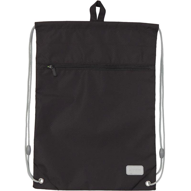 Сумка для обуви с карманом KITE Education Smart, черная - №1