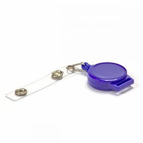 Клип-рулетка для бейджей, синяя, 1 шт