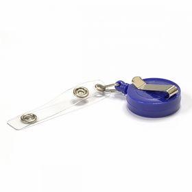 Клип-рулетка для бейджей с зажимом, синяя, 1 шт