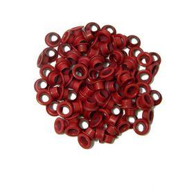 Заклепки (люверсы) 5.0 мм, красные, 1000 шт