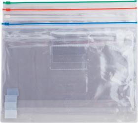 Папка-конверт на zip-lockBuromax А4,160 мкм, ассорти