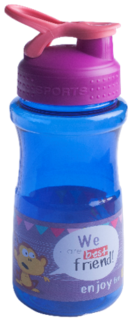 Бутылочка для воды ZIBI KIDS Line 500 мл, розовая