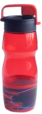 Бутылочка для воды ZIBI KIDS Line 600 мл, красная