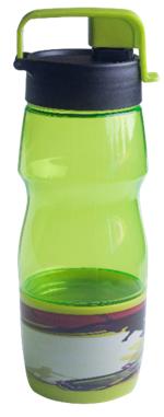 Бутылочка для воды ZIBI KIDS Line 600 мл, салатовая