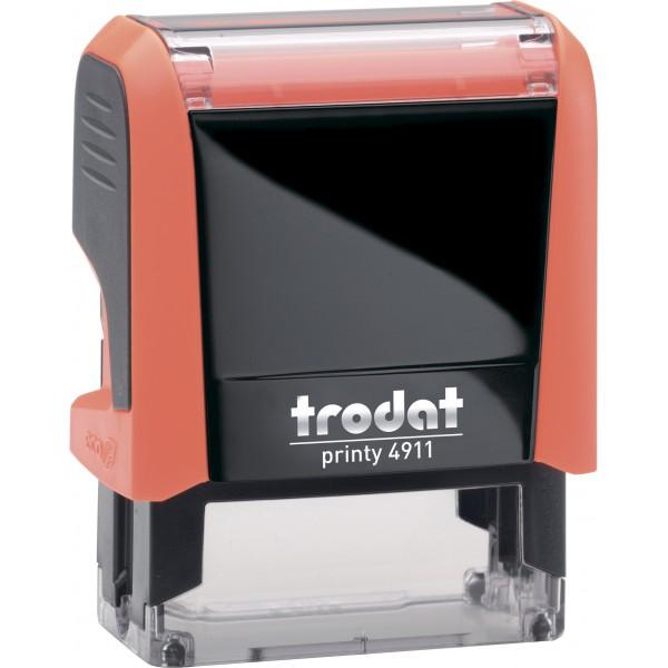 Штамп с бухгалтерскими терминамиTrodat 49114 мм, Укр, оранжевый