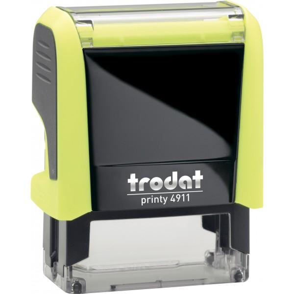 Штамп с бухгалтерскими терминамиTrodat 49114 мм, Укр, желтый