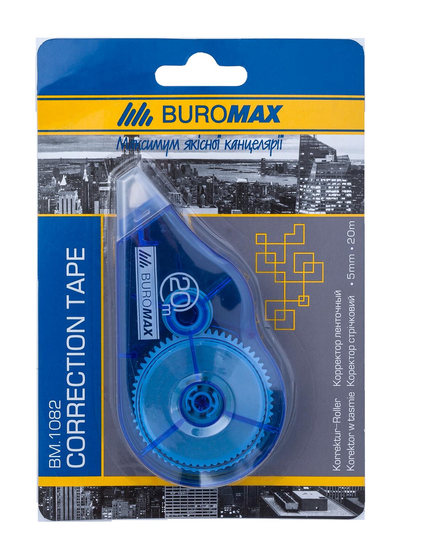Корректор ленточныйBuromax5 ммх20 м, синий