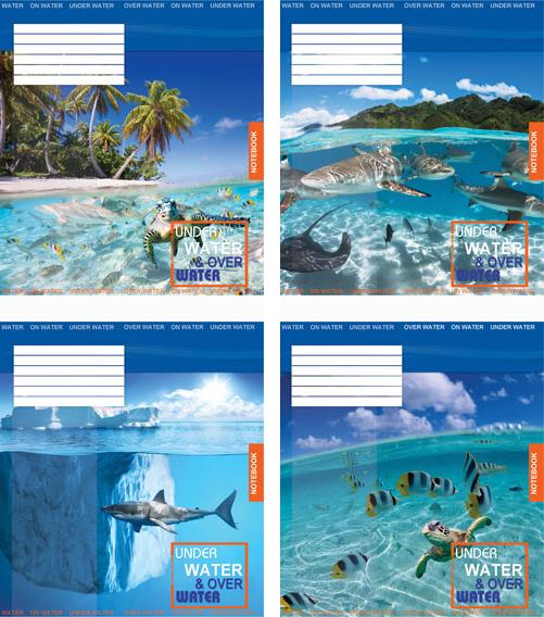 Тетрадь Мечты сбываются Подводный мир А5, 18 листов, линия, ассорти