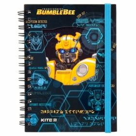Блокнот KITE Transformers BumbleBee Movie А6, 80 листов, клетка