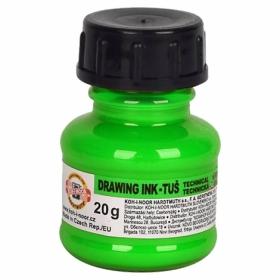 Тушь художественная флуоресцентная Koh-i-Noor 20 г, зеленая