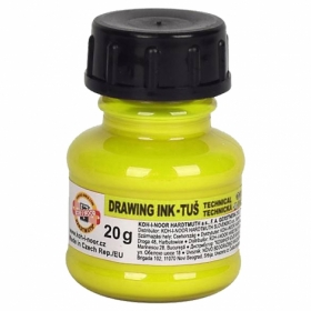 Тушь художественная флуоресцентная Koh-i-Noor 20 г, желтая