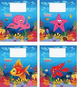 Тетрадь Мечты сбываются Подводный мир А5, 12 листов, косая линия, ассорти