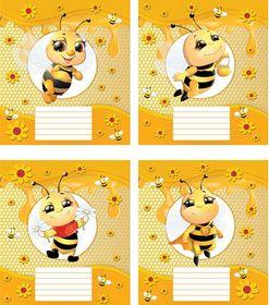 Тетрадь Мечты сбываются Веселая пчелка А5, 12 листов, косая линия, ассорти