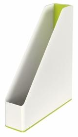 Лоток вертикальний Leitz WOW Duo Colour, зеленый металлик