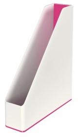 Лоток вертикальний Leitz WOW Duo Colour, розовый металлик