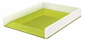 Лоток горизонтальний Leitz WOW Duo Colour, зеленый металлик