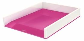 Лоток горизонтальний Leitz WOW Duo Colour, розовый металлик