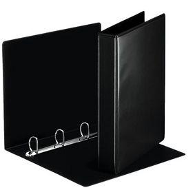 Папка Панорама на кольцах А4, 30 мм, 4D, РР, черный