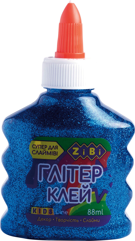 Клей ПВА для слаймов с колпачком-дозатором ZiBi ГЛИТТЕР 88 мл, синий