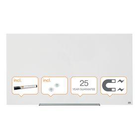 Доска стеклянная магнитно-маркерная Nobo Diamond  71.1х126 см, белая