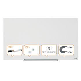 Доска стеклянная магнитно-маркерная Nobo Diamond  55.9х99.3 см, белая