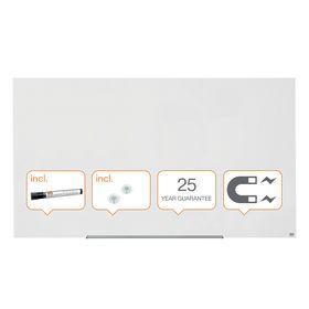 Доска стеклянная магнитно-маркерная Nobo Diamond 105.9х188.3 см, белая