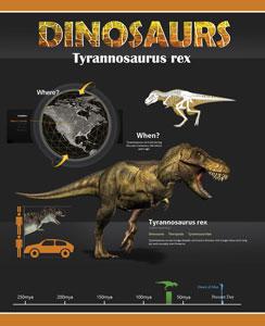 Тетрадь Мечты сбываются Динозавры А5, 60 листов, клетка