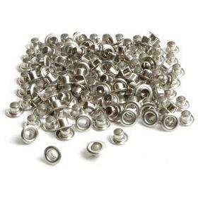Заклепки (люверсы) 4 мм, серебро, 1000 шт