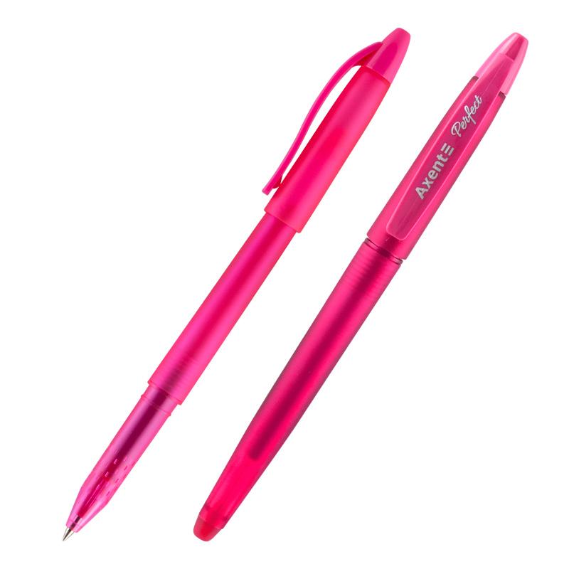 "Ручка гелевая ""пиши-стирай"" Axent Perfect 0.5 мм, розовая"