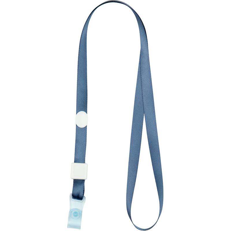 Шнурок для бейджа с клипом Axent 4551, 20 шт, дымчатый синий