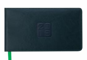 Еженедельник датированный 2020 Buromax Карманный BRAVO, зеленый, 9.5х17 см