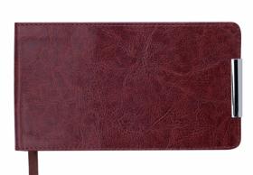 Еженедельник датированный 2020 Buromax Карманный SALERNO, коричневый, 9.5х17 см
