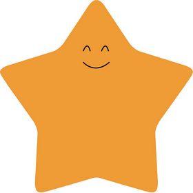 Бумага для заметок Axent Star 70х70 мм, 50 листов, с клейким слоем, оранжевая