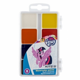Краски акварельные KITE My Little Pony без кисти, 8 цветов