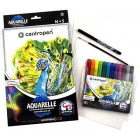 Набор для творчества Centropen Aquarelle 9383, 19 предметов
